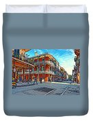 In The French Quarter Painted Duvet Cover