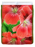In The Garden. Geranium Duvet Cover