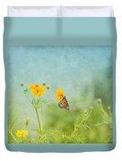 In The Garden - Monarch Butterfly Duvet Cover