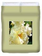 Sunny Rose Garden Duvet Cover