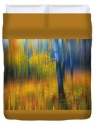 In The Golden Woods. Impressionism Duvet Cover