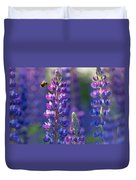 In The Land Of Lupine Duvet Cover by Mary Amerman
