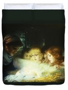 In The Manger Duvet Cover by Hugo Havenith