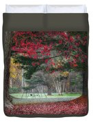 In The Park Square Duvet Cover