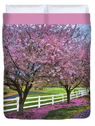 In The Pink Duvet Cover by Debra and Dave Vanderlaan