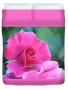 In The Pink Duvet Cover by Rona Black