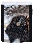 In The Presence Of  Bison - 6 Duvet Cover