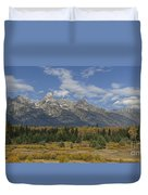 In The Shadow Of The Tetons Duvet Cover