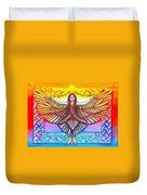 In The Shadow Of Thy Wings Psalms Duvet Cover