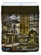 In The Ship-lift Engine Room Duvet Cover