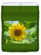 In The Sunflower Field Duvet Cover