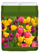 In The Tulip Garden Duvet Cover