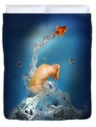 In The Water Duvet Cover by Mark Ashkenazi