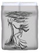 In The Wind She Dances Duvet Cover