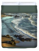 Incoming Waves At Bandon Beach Oregon Duvet Cover