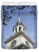 Independence Hall Bell Tower Duvet Cover