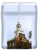 Independence Hall Clocks Duvet Cover