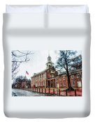 Independence Hall From Chestnut Street Duvet Cover