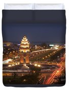 Independence Monument, Cambodia Duvet Cover