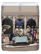 India  British Colonial Era  Banquet At The Palace Of Rais In Mynere Duvet Cover