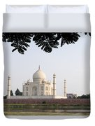 India, Temple Burial Site Seen Duvet Cover by Bill Bachmann