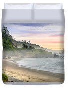Indian Beach One Foggy Morning Duvet Cover