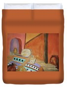 Indian Blankets Jars And Drums Duvet Cover