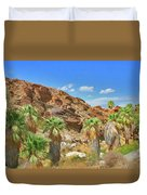 Indian Canyons View In Palm Springs Duvet Cover