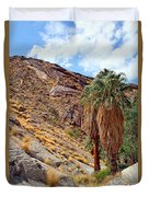 Indian Canyons View With Two Palms Duvet Cover