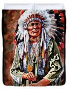 Indian Chief Duvet Cover