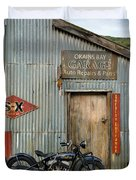 Indian Chout At The Old Okains Bay Garage 1 Duvet Cover