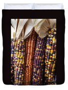 Indian Corn Close Up Duvet Cover by Garry Gay