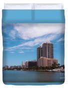 Indian Creek And Blue Tower Condos Duvet Cover