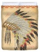 Indian Head Dress-a Duvet Cover