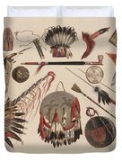 Indian Implements And Arms Duvet Cover