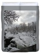 Indian Leap In Winter Duvet Cover