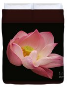 Indian Lotus On Black --- Sacred Light Duvet Cover