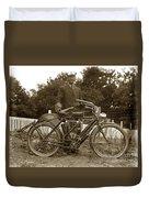 Indian Camelback Motorcycle Circa 1908 Duvet Cover