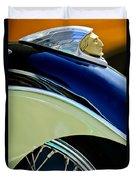 Indian Motorcycle Fender Emblem Duvet Cover