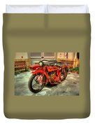 Indian Motorcycle With Sidecar Duvet Cover
