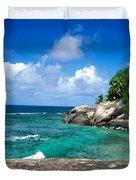 Indian Ocean Moyenne Island Seychelles Duvet Cover