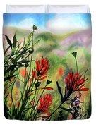 Indian Paint Brush Duvet Cover