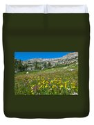 Indian Peaks Wildflower Meadow Duvet Cover