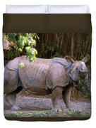 Indian Rhinoceros Duvet Cover
