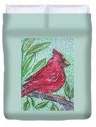 Indiana Cardinal Redbird Duvet Cover
