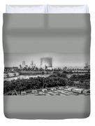 Indiana - Downtown From Across White River Panoramic Duvet Cover