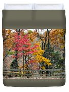 Indiana Fall Color Duvet Cover by Alan Toepfer