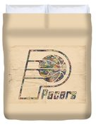 Indiana Pacers Poster Art Duvet Cover