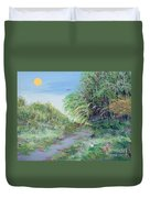 Indiana Spring Afternoon By The Creek Duvet Cover