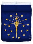 Indiana State Flag Duvet Cover
